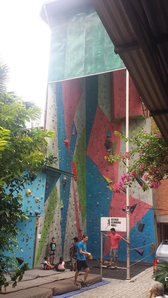 Main climbing wall and part of one of the bouldering walls