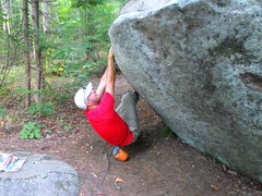 Rock Climbing Photo: Most boulders are very smooth, usually sitting in ...