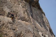 Rock Climbing Photo: starting the first crux