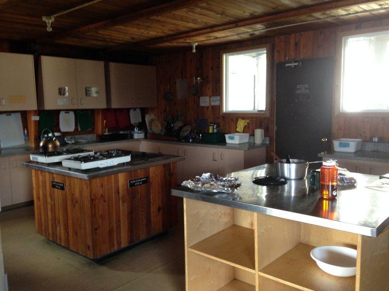 Kitchen in Kain Hut