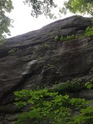 Rock Climbing Photo: Working left 6 of 6, just before the cliff turns v...