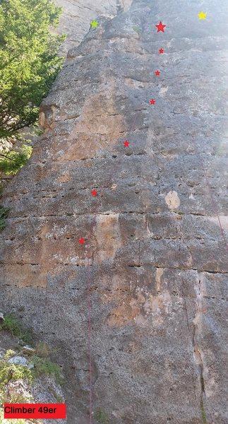 Rock Climbing Photo: Climber 49er