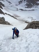 Rock Climbing Photo: Coming up the B-S col