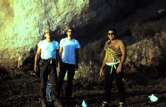Rock Climbing Photo: George Goedecke, Bill Hackett, Dave Bailey at Cuev...
