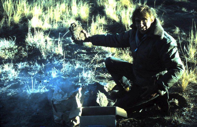 John Parker at campfire