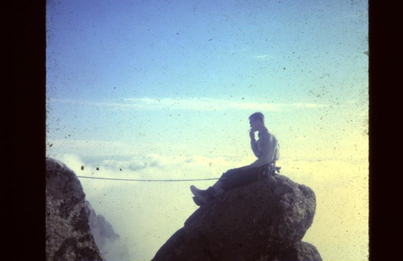 Rock Climbing Photo: Lew Downey, Top of the Needle
