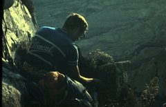 Rock Climbing Photo: Bill Hackett on Yagg Ledge Bivuoac, Orp