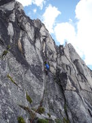 Rock Climbing Photo: Leading Pitch 2 - Lion's Way