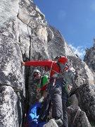 Rock Climbing Photo: Top of pitch 2 - Lion's Way