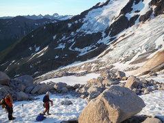 Rock Climbing Photo: roping up for bugaboo glacier
