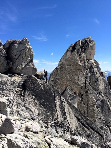Rock Climbing Photo: Summit of Pigeon Spire in background.