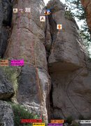 Rock Climbing Photo: Full Charge Front/Left routes