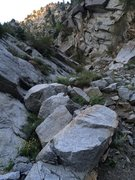 Rock Climbing Photo: The loose gully option in the gully, i.e the right...