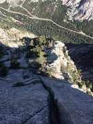 """Rock Climbing Photo: The 6th pitch crux (""""off-width"""") from ab..."""