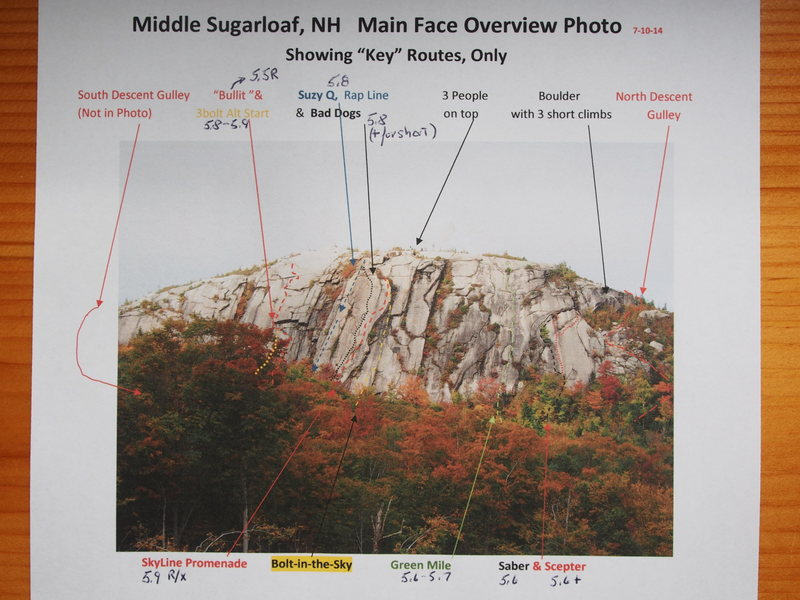 Rock Climbing Photo: Middle Sugarloaf - Overview