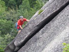 "Rock Climbing Photo: Chris Ellms Climbing on the North End ( ""Gree..."