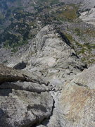 Rock Climbing Photo: looking down the S Buttress on Pingora