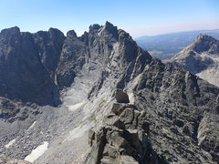 Rock Climbing Photo: heading toward Overhanging Tower from Wolf's Head