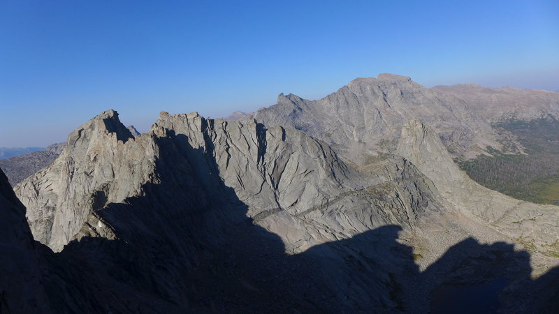 Rock Climbing Photo: looking back toward Pingora from ~Shark's Nose