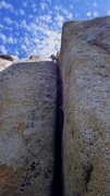 Rock Climbing Photo: Allison leading Enemy Within.  Aug 2015.