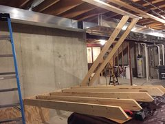 Rock Climbing Photo: rest of the joists ready to be lifted