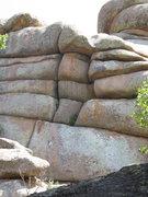 Rock Climbing Photo: Crack climb on the backside of East LA