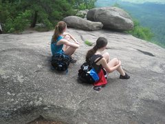 Halfway rest of Old Rag Mountain //HIKE//. Shortly after this, the rock scramble began.