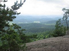 The view from halfway up of the Old Rag Mountain //HIKE//.