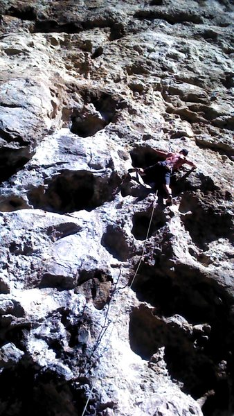 About to pull into the crux