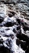 Rock Climbing Photo: About to pull into the crux
