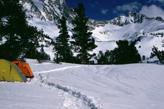 Rock Climbing Photo: Peak 12,182 from a winter camp at Lower Treasure L...
