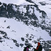 Tony and Chris on a winter ascent of the ridge.