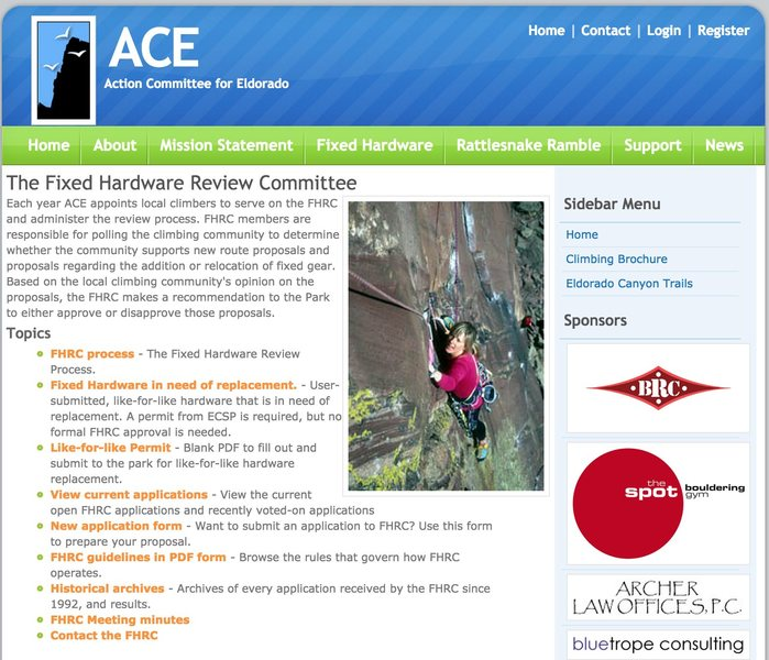 Rock Climbing Photo: Eldo ACE fixed pro review page