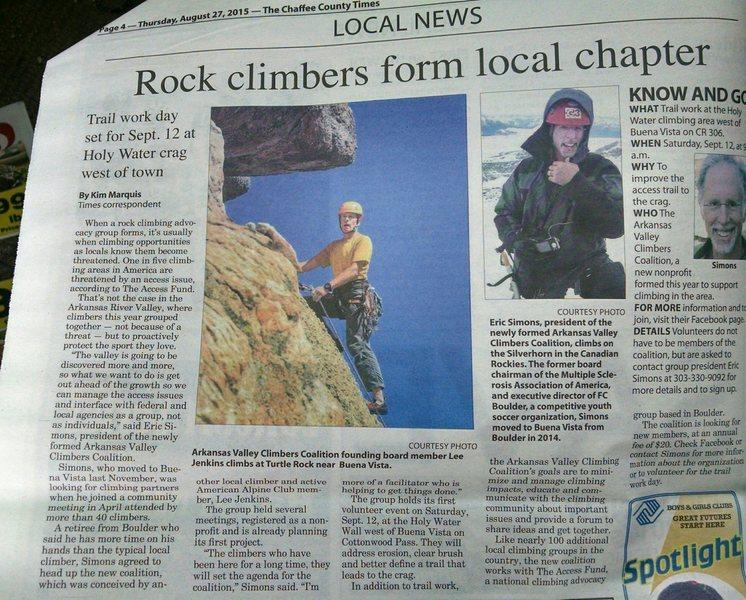 Holy Water Crag Adopt-a-crag, September 12, 2015.