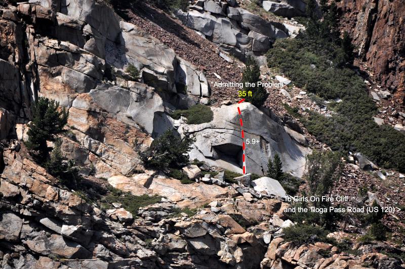 "Rock Climbing Photo: ""Admitting the Problem"" (5.9+)"