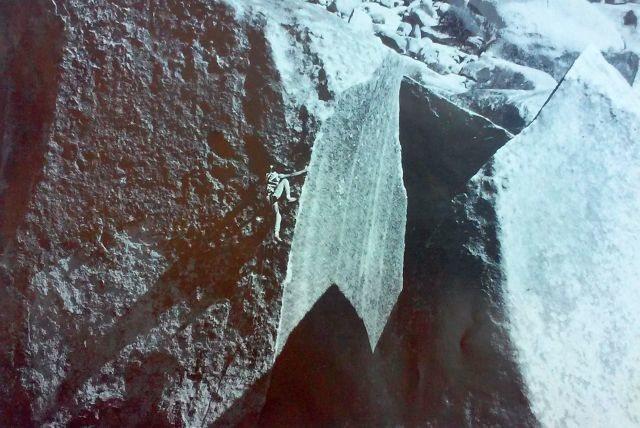 Rock Climbing Photo: Graham Pierce making the 3rd ascent of Ionic Stren...