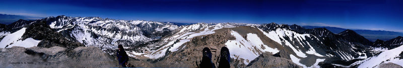 360 degree panorama from the summit of Mount Gould.