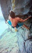 Rock Climbing Photo: Darius Azin on God (5.13a), Black Cliffs   Photo b...