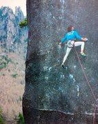 Rock Climbing Photo: Stephan Glowacz on the first ascent of Ninja (5.14...