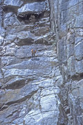 Rock Climbing Photo: Chris Nelson & Larry Bruce rapping off. Black Cany...