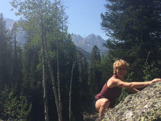Grand Teton National Park- playing around on boulders