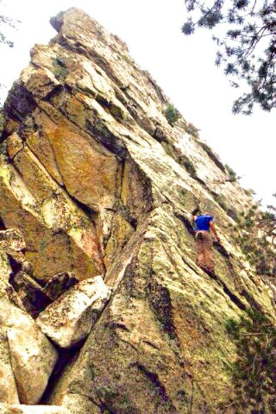 Rock Climbing Photo: Start of Cumulonimbus!