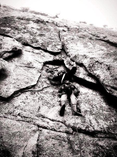 Rock Climbing Photo: Jonathan Reinig on the FA of Cumulus!