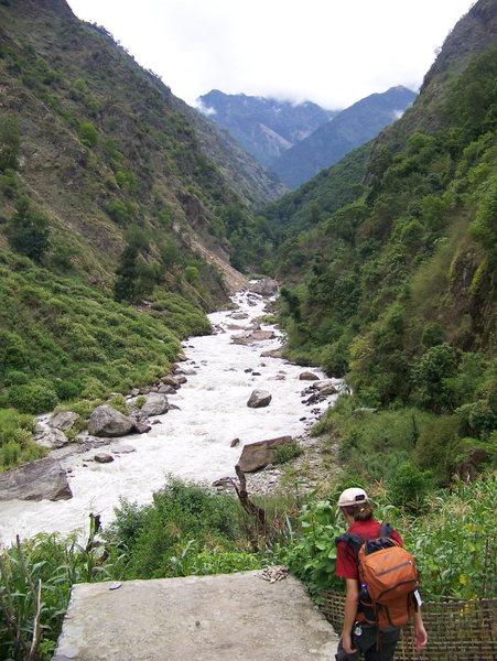 Valleys in the Himalaya