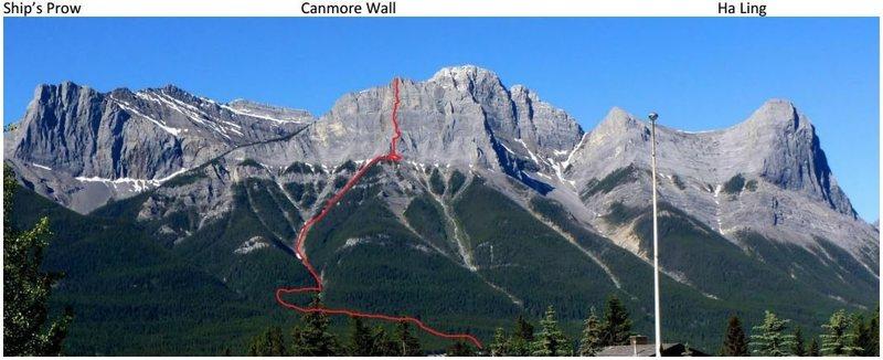 Rock Climbing Photo: canmore wall