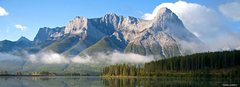 Rock Climbing Photo: A beautiful view of Mt. Grassi with canmore wall i...