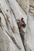 Rock Climbing Photo: An individual from another party (Derrick?) on Mot...