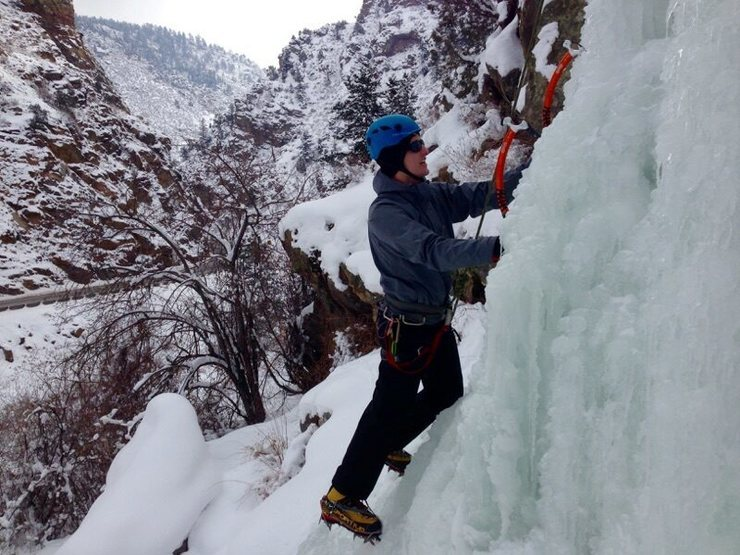 Great climb for a first time ice climber. March, 2015.