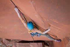 Rock Climbing Photo: Photo by Dana Felthauser. Placing a black alien be...