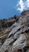 Rock Climbing Photo: Easy route above Allison Creek. 5.6 maybe? This pa...